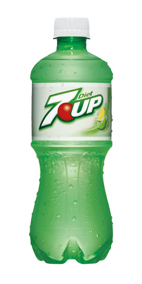 Diet 7UP Lemon-lime flavored, diet soft drink
