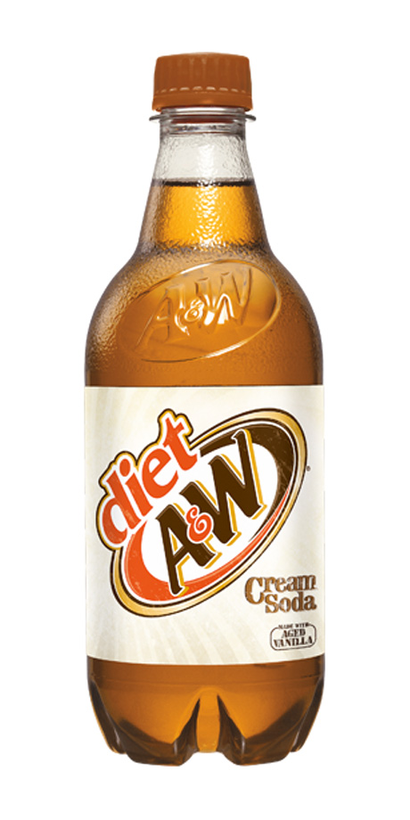 Diet A&W Cream Soda Diet vanilla flavored soft drink
