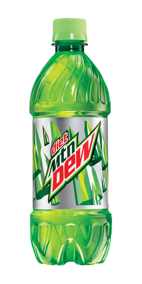 Diet Mountain Dew Zero calorie citrus soft drink
