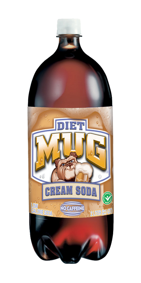 Diet Mug Cream Soda Zero calorie, vanilla flavored soft drink