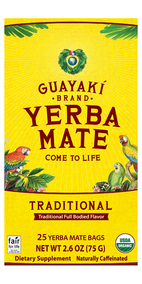 Guayaki Traditional Yerba Mate: Tea Bag Traditional Mate is rich, robust, and balanced, with a complex earthy mate body and a smooth mellow finish