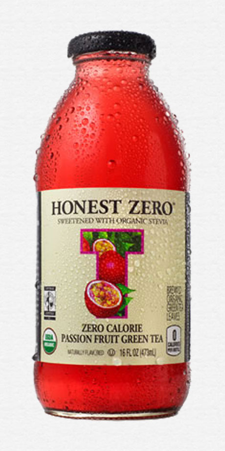 Honest Zero Passion Fruit Green Tea Zero calorie organic tea