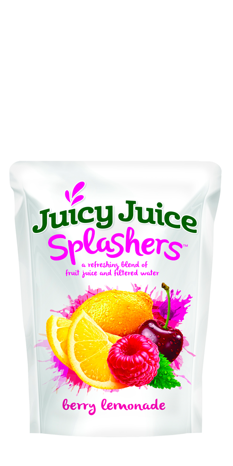 Juicy Juice Splashers Blend of fruit juice and filtered water pouches