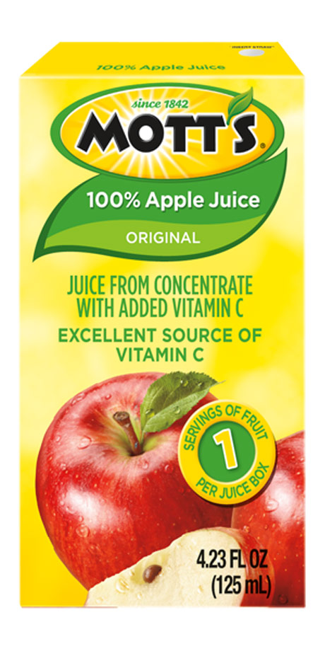 Mott's 100% Apple Juice 100% apple juice from concentrate