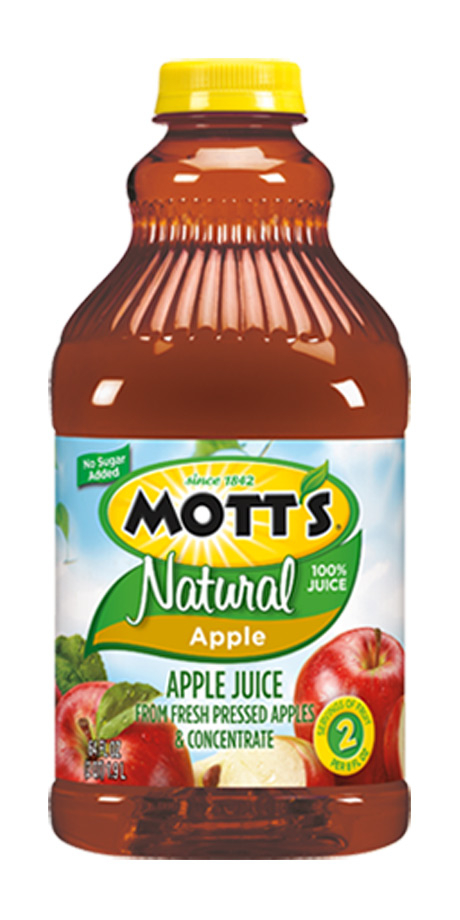 Mott's Natural 100% Apple Juice Combination of apple juice and apple juice concentrate