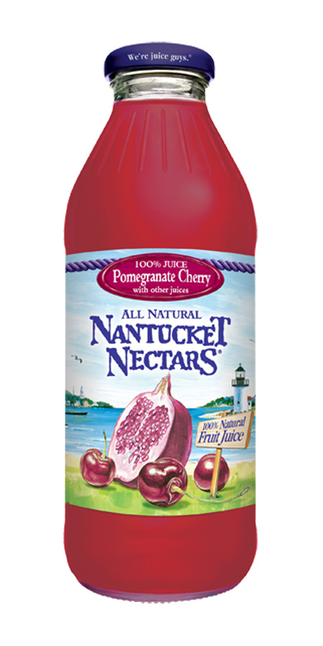 Nantucket Nectars Pomegranate Cherry Juice 100% fruit juices from concentrate
